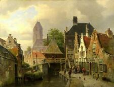 Art Print European town Oil painting Picture Printed on canvas 16