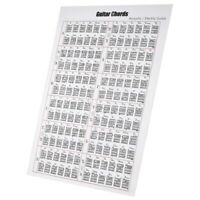 Acoustic / Electric Guitar Chord & Scale Chart Poster Tool Lessons Music Le H2I3