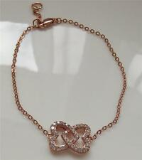 DIAMONIQUE by ANDREA McLEAN ROSE GOLD PLATED STERLING SILVER BRACELETNEW QVC
