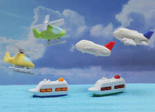 IWAKO Puzzle Eraser / 60pc Set of Helicopter, Airplane, Ship (6 colors assorted)