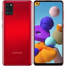 "Samsung Galaxy A21s SM-A217F/DS Dual Sim (FACTORY UNLOCKED) 6.5"" 32GB RED"