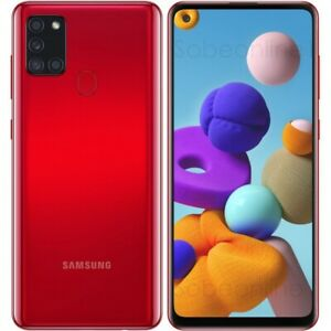 "Samsung Galaxy A21s SM-A217F/DS Dual Sim(FACTORY UNLOCKED) 6.5"" 32GB RED NEW USA"