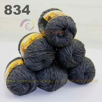 SALE LOT 6 Skeins x 50gr NEW Chunky Colorful Hand Knitting Scores Wool Yarn 834