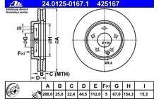 ATE Juego de 2 discos freno Antes 288mm ventilado para MERCEDES 24.0125-0167.1