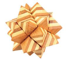 casse tete en bois bambou, modèle Appolo, difficulté 5 etoiles