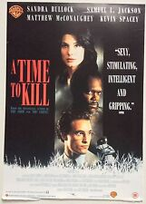 A TIME TO KILL / ORIGINAL VINTAGE VIDEO FILM POSTER / SAMUEL L JACKSON 3