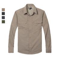Mens Quick Dry Shirts Hiking Fishing Work Military Army Shirts Sportswear Tops