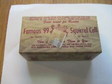 VTG EARLY 1950 HERTER'S FAMOUS 99 SQUIRREL CALL ORIGINAL BOX INSTRUCTIONS WASECA