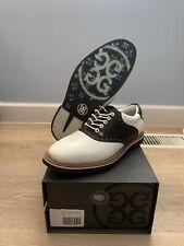 G/Fore Men's Size US 8.5 White Snow Espresso Saddle Gallivanter Golf Shoes