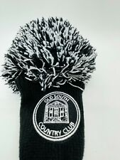 Old South Country Club Cannon Black Pom Knit Fairway 3 Wood Headcover Mint Rare