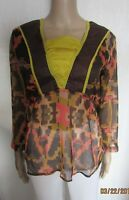NEW SHEER RETRO STYLE TUNIC TOP SIZE 12 MONSOON