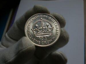 """1937 Australia Crown coin (Choice+) """"Dot Variety"""""""