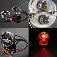 Motorcycle Chrome STOP Brake Tail Light Rear Light For Harley Chopper Cafe Racer