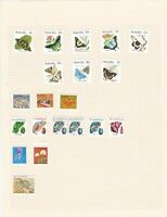 australia mounted mint stamps on  album pages ref 13213