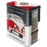 VW volkswagen Shape Vorratsdose Gr. L, Metall,2,8 ltr.,Hoard Box Metal neu