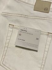 New AG Jeans ADRIANO GOLDSCHMIED Etta High-Rise Wide-Leg Crop Jeans $215 Size 30
