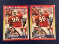 1990 Score # 299 CORTEZ KENNEDY ROOKIE Lot 2 Seattle Seahawks MIAMI HOF NICE !