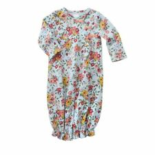 NWT MUD PIE BABY GIRLS GARDEN FLORAL PRINT CONVERTIBLE GOWN/SLEEPER SZ 3-6 MO