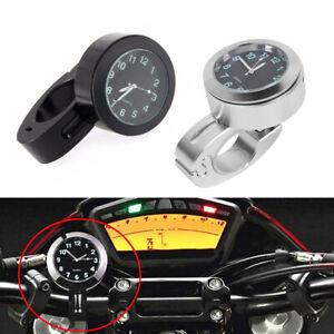Waterproof Motorcycle Handlebar Clock Glow In Dark Bicycle Bike Mount Dial Watch