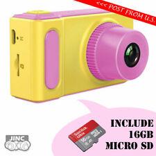 Kids Digital Camera + Genuine Original SanDisk 16GB microSDHC UHS-1 Memory Card