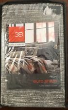 NEW Studio 3B by Kyle Schuneman Milo Grey Tweed Euro Pillow Sham, 100% Cotton