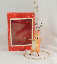 Mud Pie CUPID Christmas Ornament Reindeer Arrow Wings 129983. New Old Stock