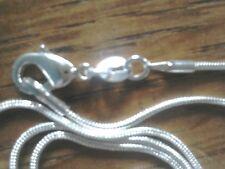 925 Argento Serpente Catena 💕 26 in (ca. 66.04 cm) di lunghezza con Sacchetto Regalo Gratuito 💝 🌞