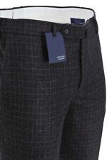 Incotex Pantalon - Homme 52 Slim Fit Schwarz Laine À carreaux  automne-hiver col