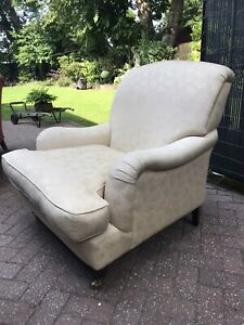 Laura Ashley Arm Chair Howard Style In Natural Linen Fabric