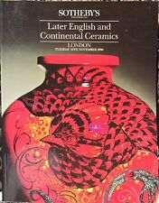 SOTHEBY'S Auction Catalog 11/13/1990 Later English & Continental Ceramics London