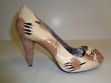 DKNYC DKNY Size 8.5 M NADINA Snake Nude Leather Pumps Heels New Womens Shoes