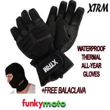 Gants thermiques noirs pour motocyclette Homme