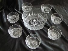SET OF VINTAGE RETRO FRENCH ARCOROC GLASS DESSERT, TRIFLE SALAD DISHES