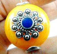 2pc Precious Modernist amber pendant Gemstone Loose Beads PL_388