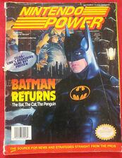 NINTENDO POWER MAGAZINE VOL 48 BATMAN RETURNS ZELDA LINK AWAKEN W/ BUBSY POSTER