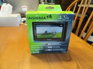 """Insignia NS-NAV01 4.3"""" Touchscreen Portable GPS USA Maps Text Never out of Box"""