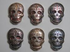 2 oz Silver Day of the Dead Sugar Skull 💀 Monarch Metals MPM - Cross