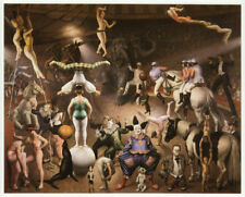 Grand Circus Parade, Dame Laura Knight vintage print 1980s ready mounted SUPERB