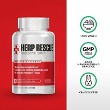 HERP RESCUE Best Formula To Clear Skin FAST Herpes Cold Sores Shingles 120 Caps