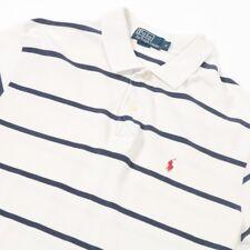 Vintage Polo by RALPH LAUREN rayas camisa Polo | Para Hombre M | Camiseta de rugby de estilo retro y