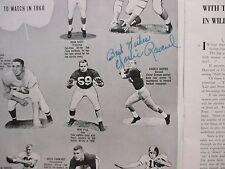 1960 Harvard Football Program(64 Signed/JOHN YOVICSIN/PUG RAVENEL/TERRY LENZNER
