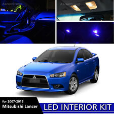 6PCS Extra Blue Interior LED Light Package Kit For 2007-2015 Mitsubishi Lancer