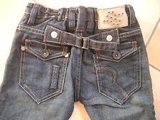 (86) RARE-The Kid Boys 6 Pocket Jeans Hose Reißverschluß & Knopf Taschen gr.104