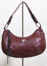 xoxo hand bag purse burgundy issh brown vinyl