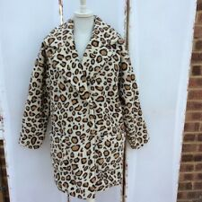 Lovely Topshop Leopard Print Borg Ovoid Teddy Coat - BNWT
