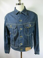 E7655 VTG LEE Rider Denim Jean Jacket Size 44 Made in USA