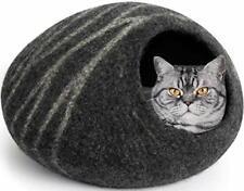 New listing Meowfia Premium Felt Cat Cave Bed (Large) - Eco-Friendly 100% Merino Wool Cat