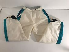 Columbia Women's Size Large Winter Ski Snow Pants Vintage White
