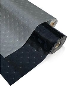 PVC Flooring Garage Sheeting Matting Rolls 1M Wide, No smell as Rubber Flooring