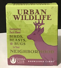 """Sierra Club """"Urban Wildlife� Knowledge Cards With Facts Educational"""